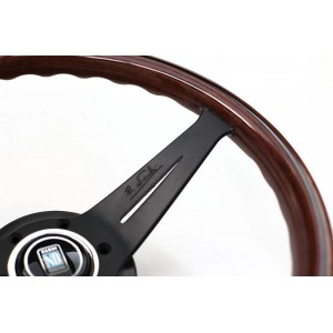 Nardi padziļinātā stūre - Koka ar melniem spieķiem - 350mm